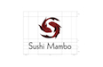 Sushi Mambo – schematics for stacked logo